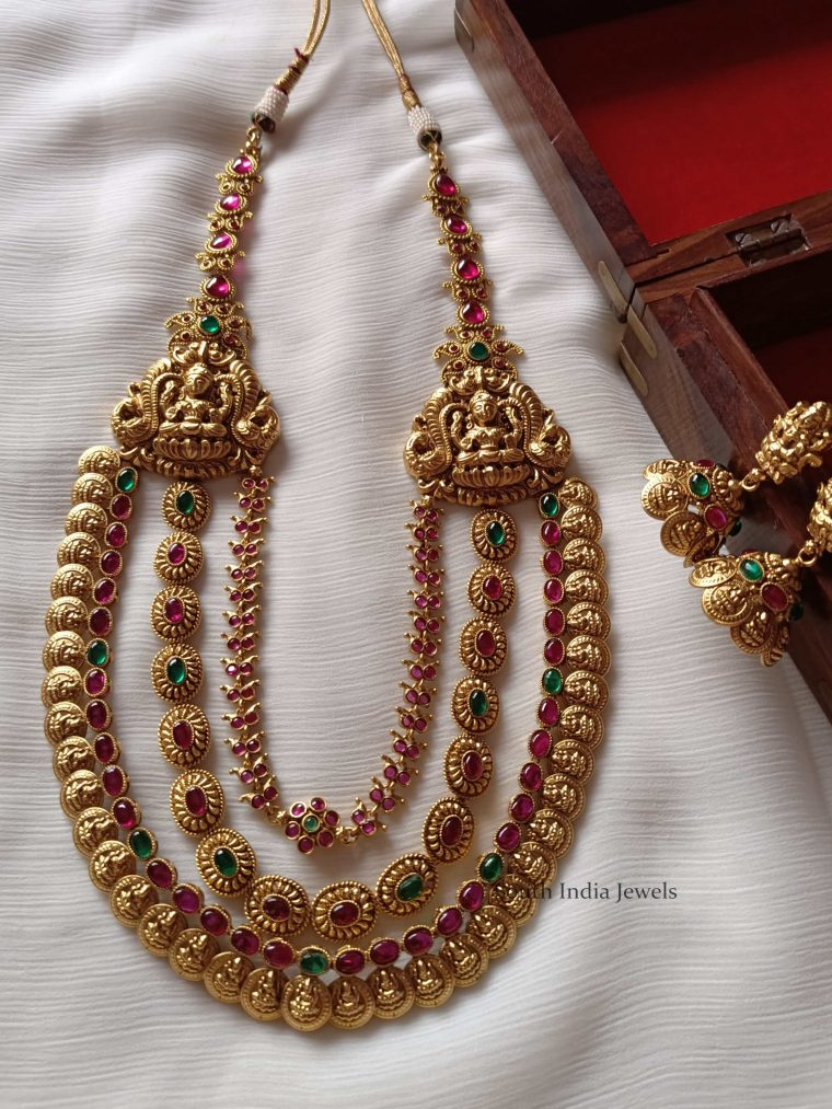 Grand Bridal Layered Lakshmi Haram (3)