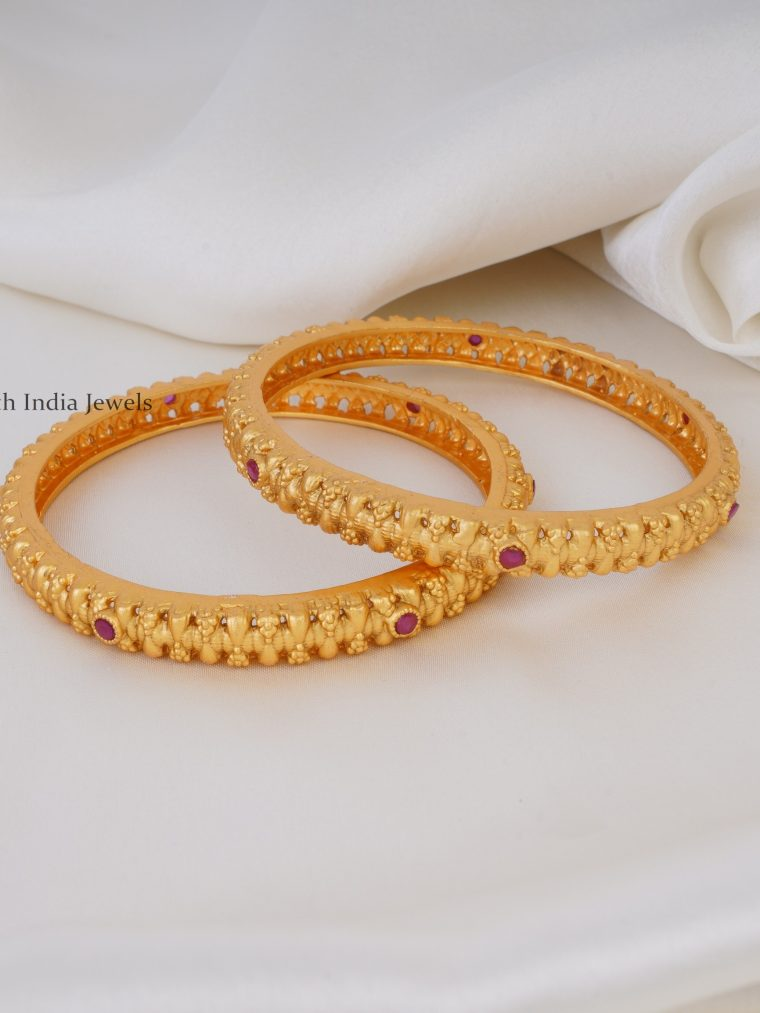 Light Weight Ruby Bangles
