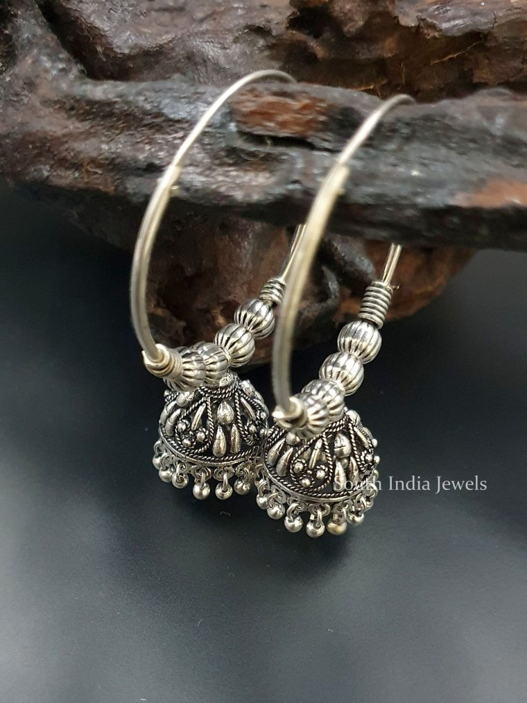 Lovely Tribal Hoop Jhumkas Earrings (3)