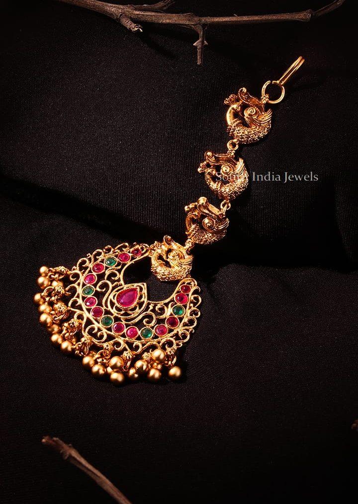 Peacock Design Kemp & Green Maang Tikka
