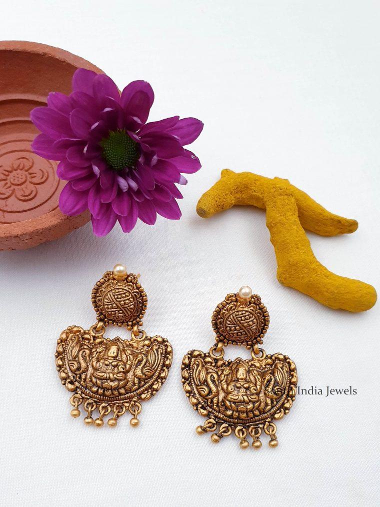 Pretty Antique Chandbali Earrings