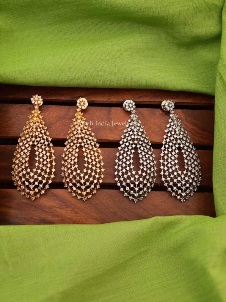 Pretty Design CZ Stone Earrings