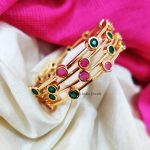 Simple Pink & Green Stone Bangles