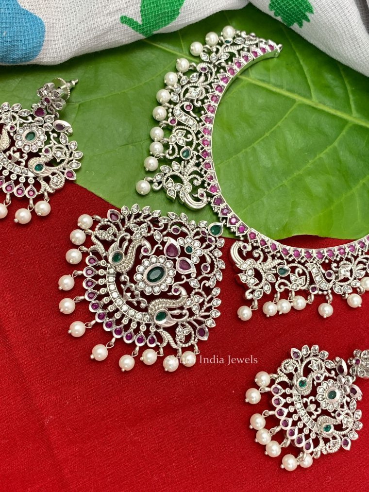 Stunning Floral German Silver Necklace (2)