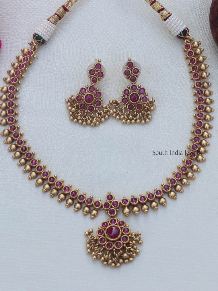 Traditional Gold Finish Necklace