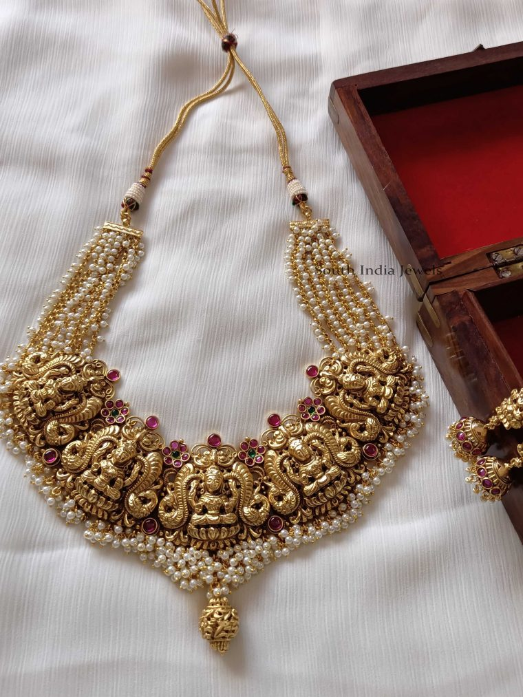 Traditional Kemp Lakshmi Necklace