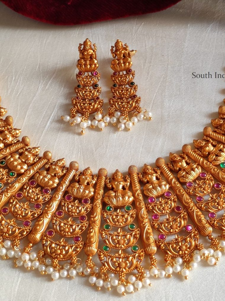 Traditional Lakshmi Design Necklace
