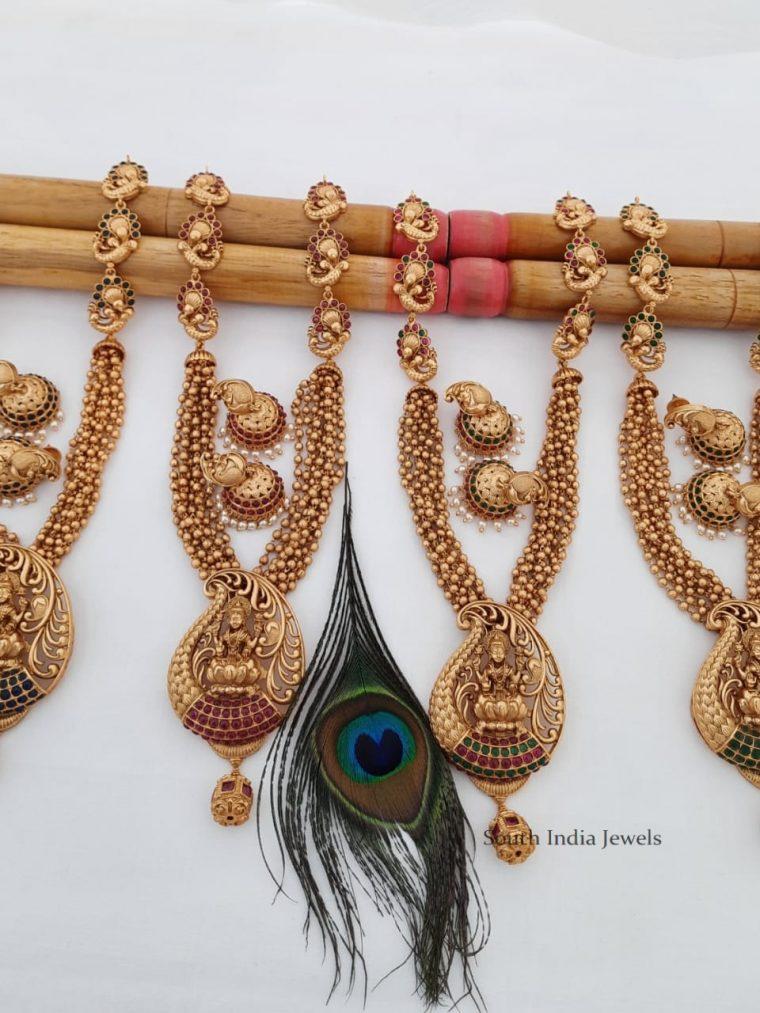Traditional Lakshmi & Peacock Design Haram (2)