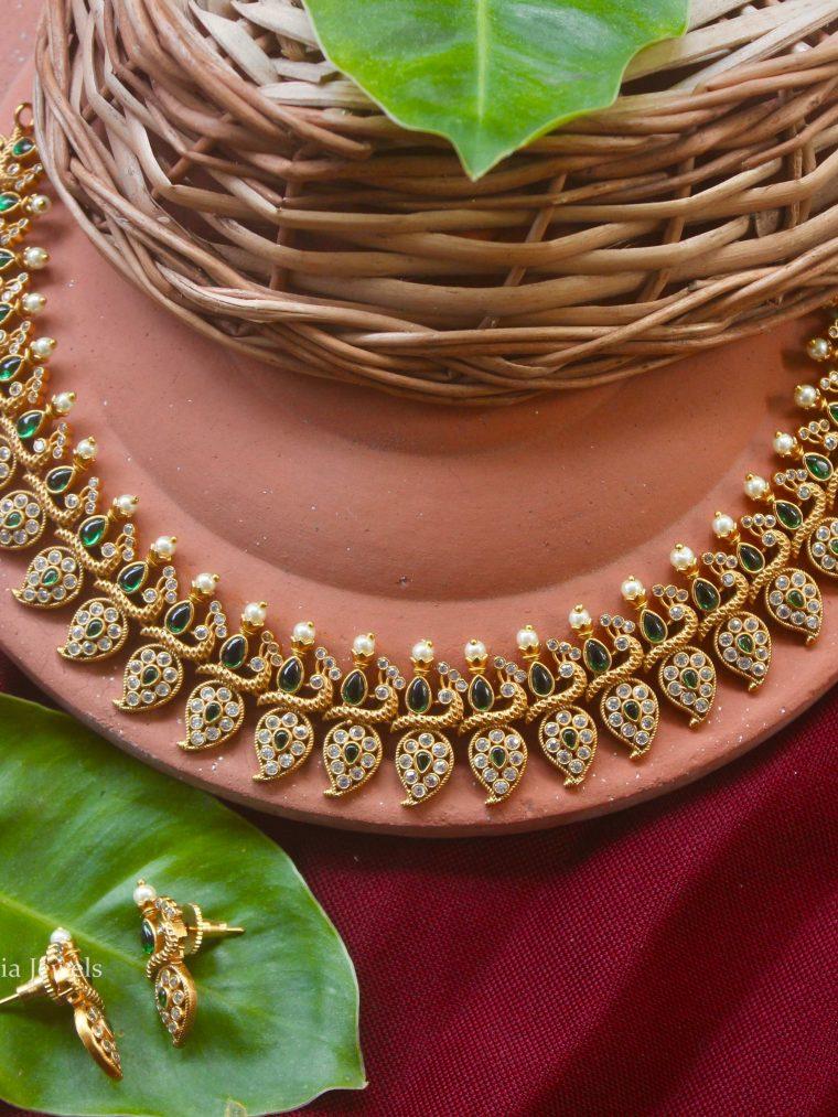 Traditional Mango Design Necklace (2)
