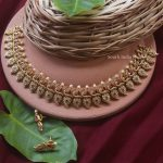 Traditional Mango Design Ruby Necklace