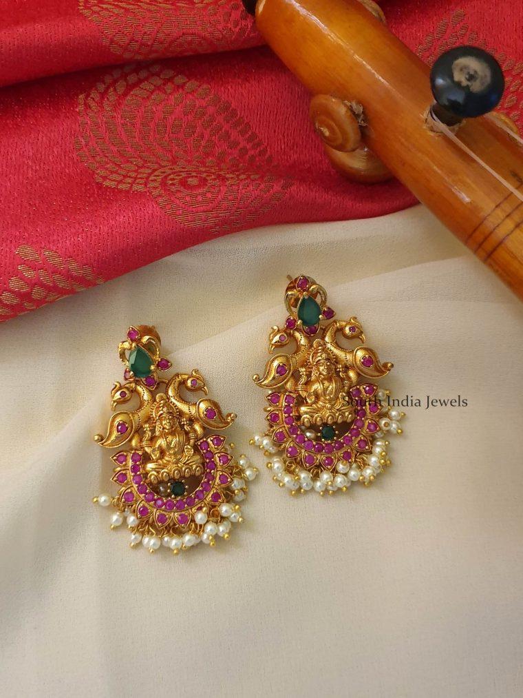 Traditional Multistone Lakshmi Earrings