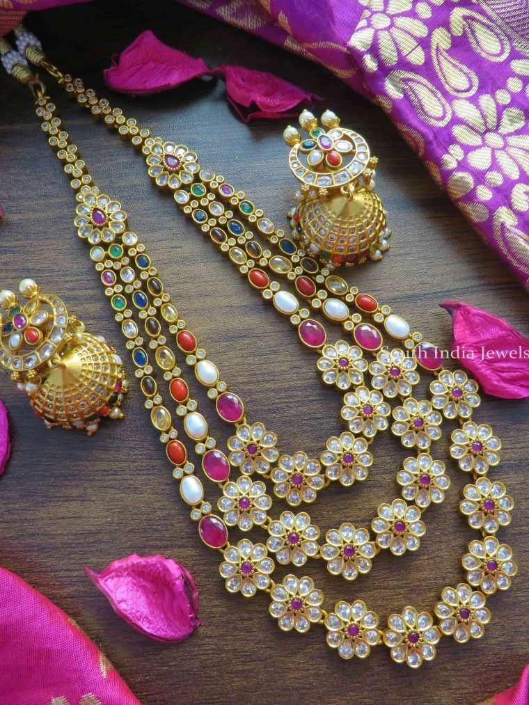 Traditional Navarathna Long Necklace