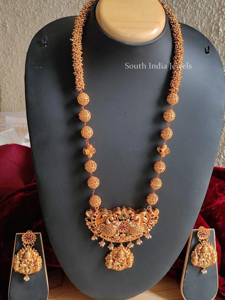 Traditional Peacock Design Lakshmi Haram