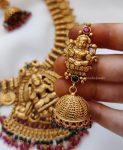 Traditional Temple Lakshmi Design Necklace (3)