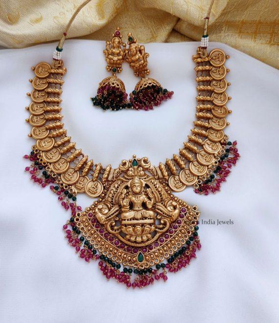 Traditional Temple Lakshmi Design Necklace