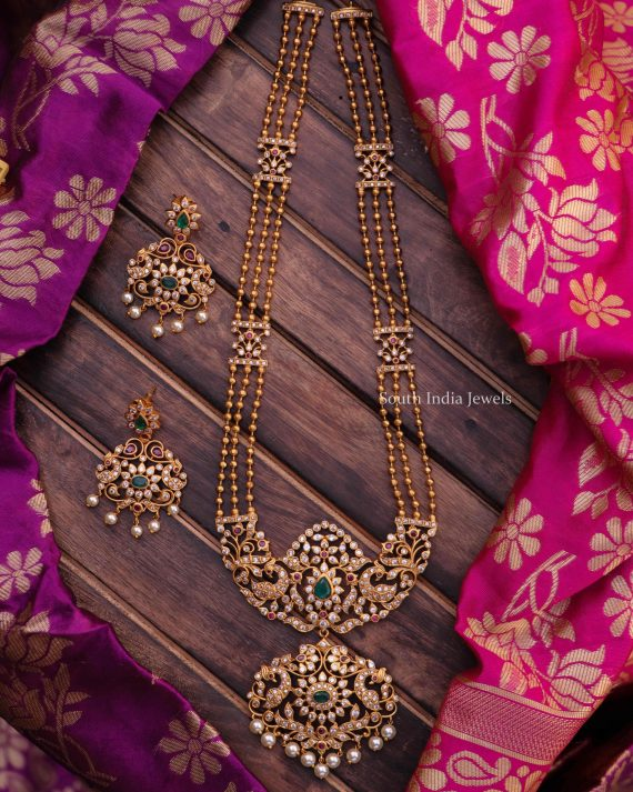 Traditional Three Layer Gold Beads Long Haram