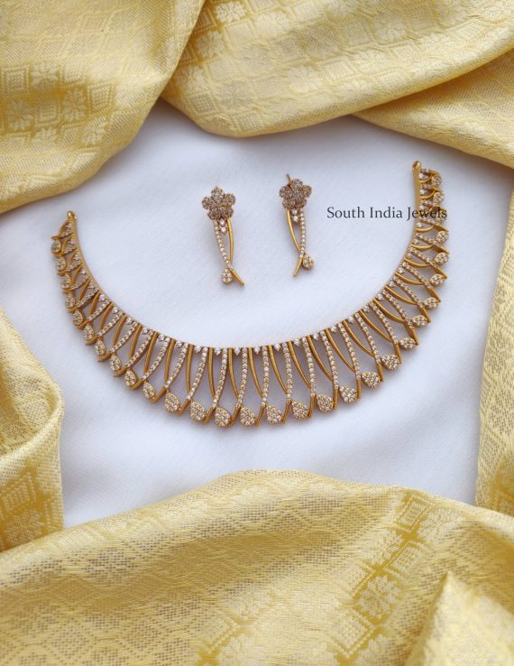 Trendy AD Stone Necklace
