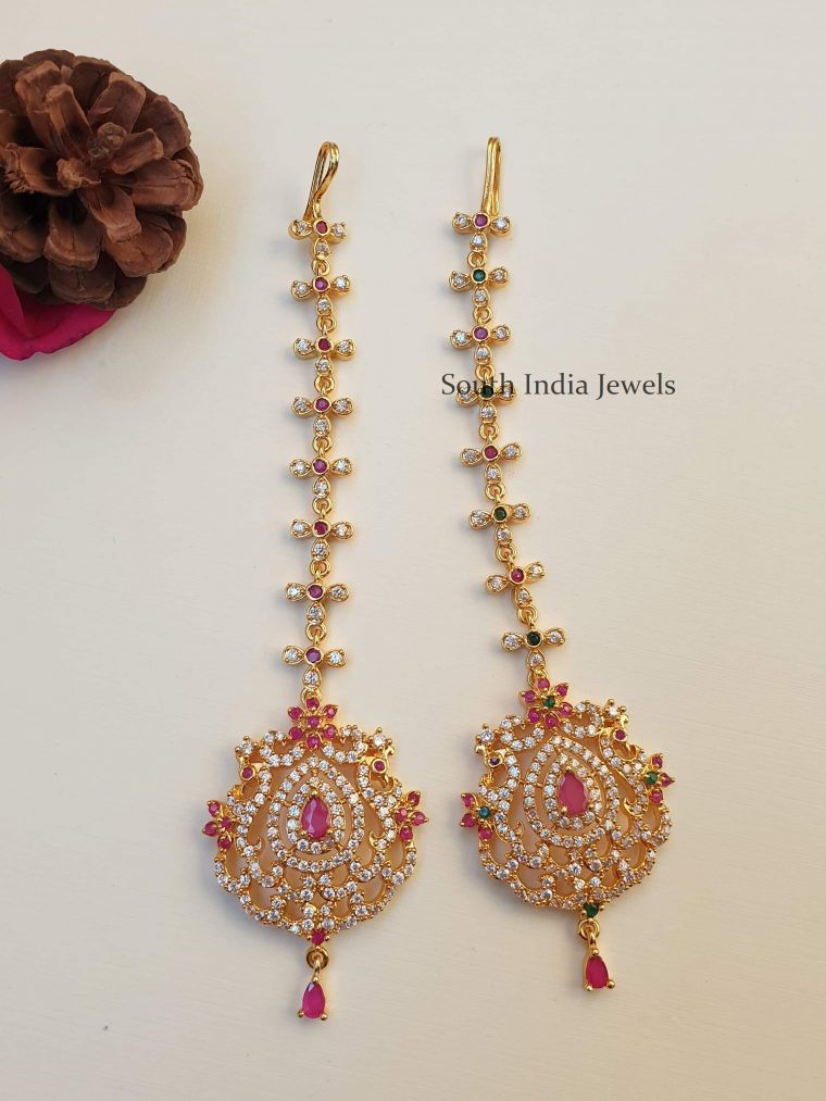 Trendy Chandbali Design Maang Tikka