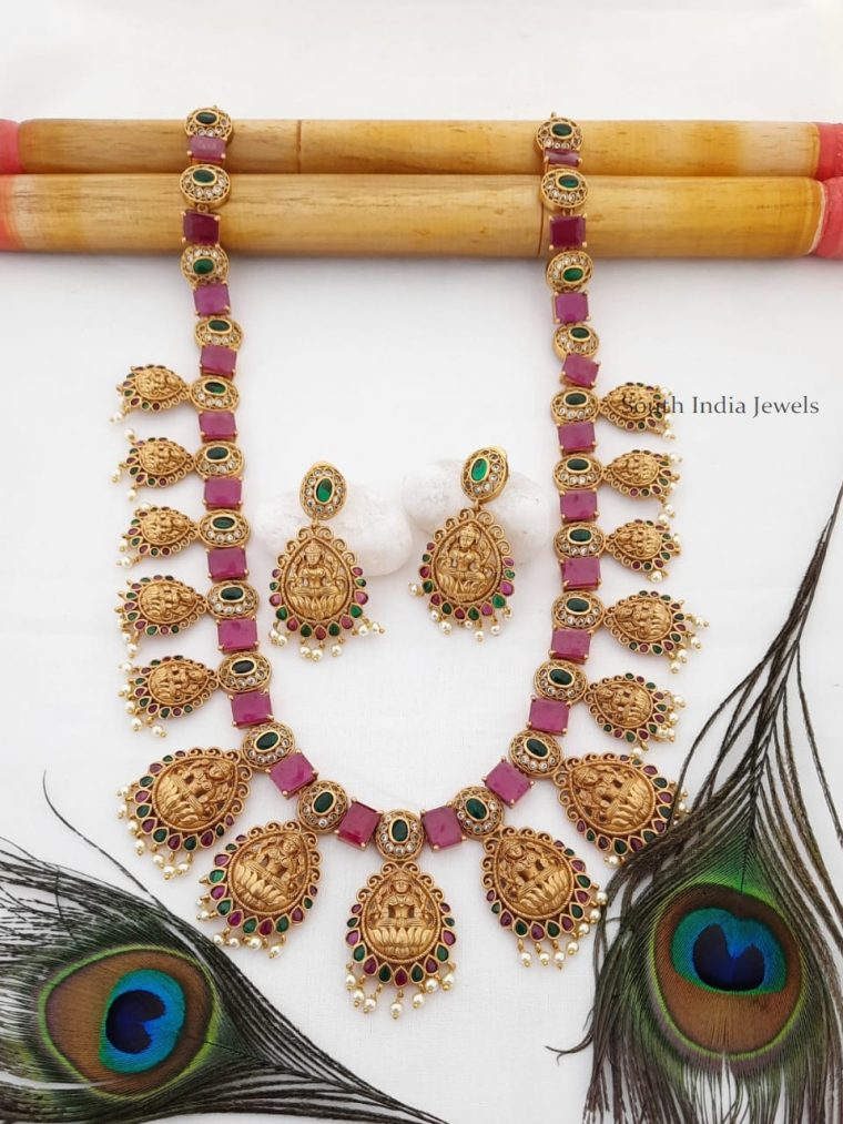 Trendy Ruby Lakshmi Haram