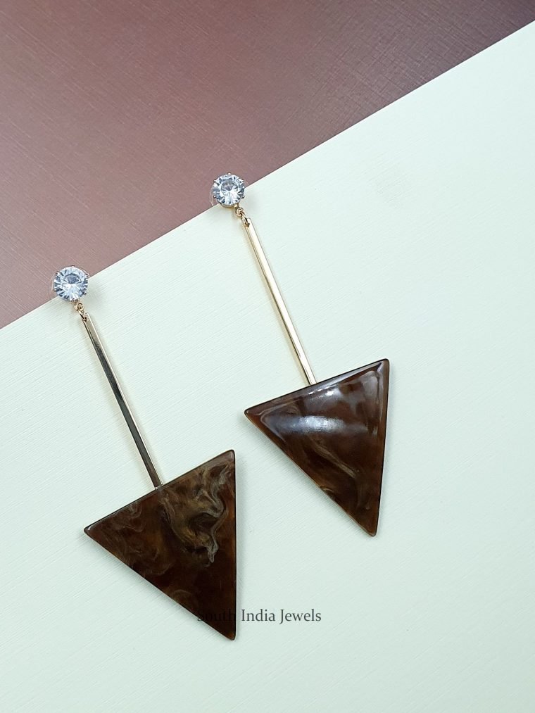 Trendy Triangle Dangler Earrings (3)