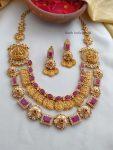 Trendy Two Layer Lakshmi Necklace