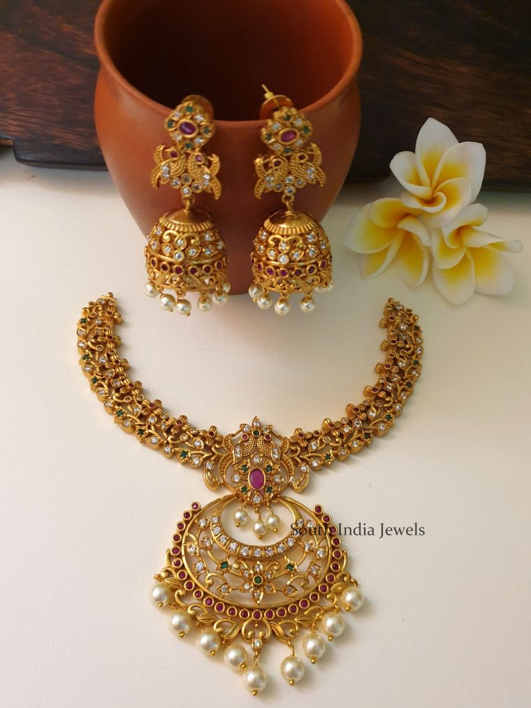 Unique Chandbali Design Necklace