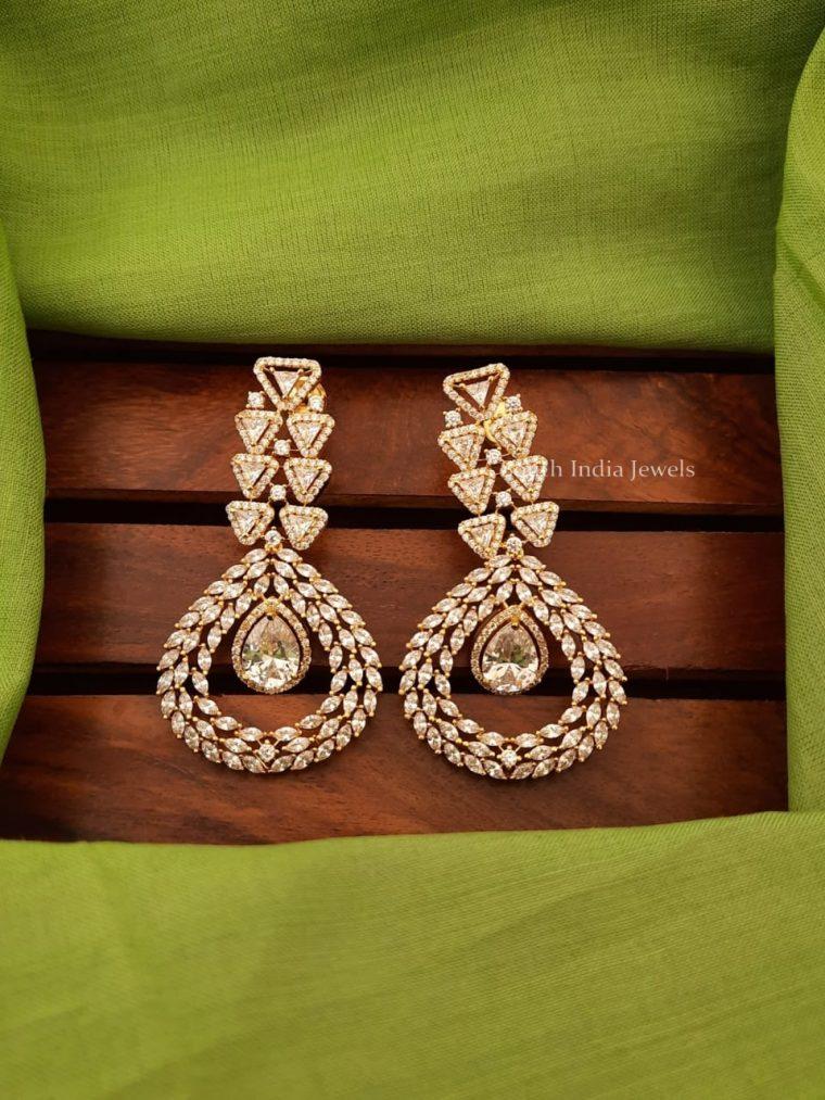 Unique Design CZ Stone Earrings