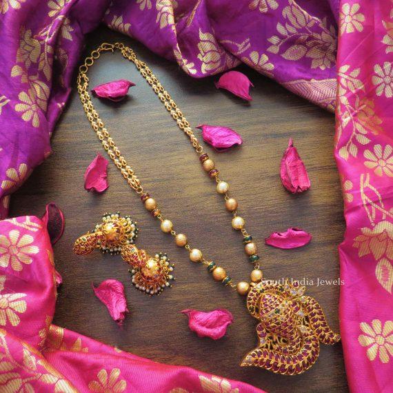 Unique Ganesh Pendant Pearl Necklace