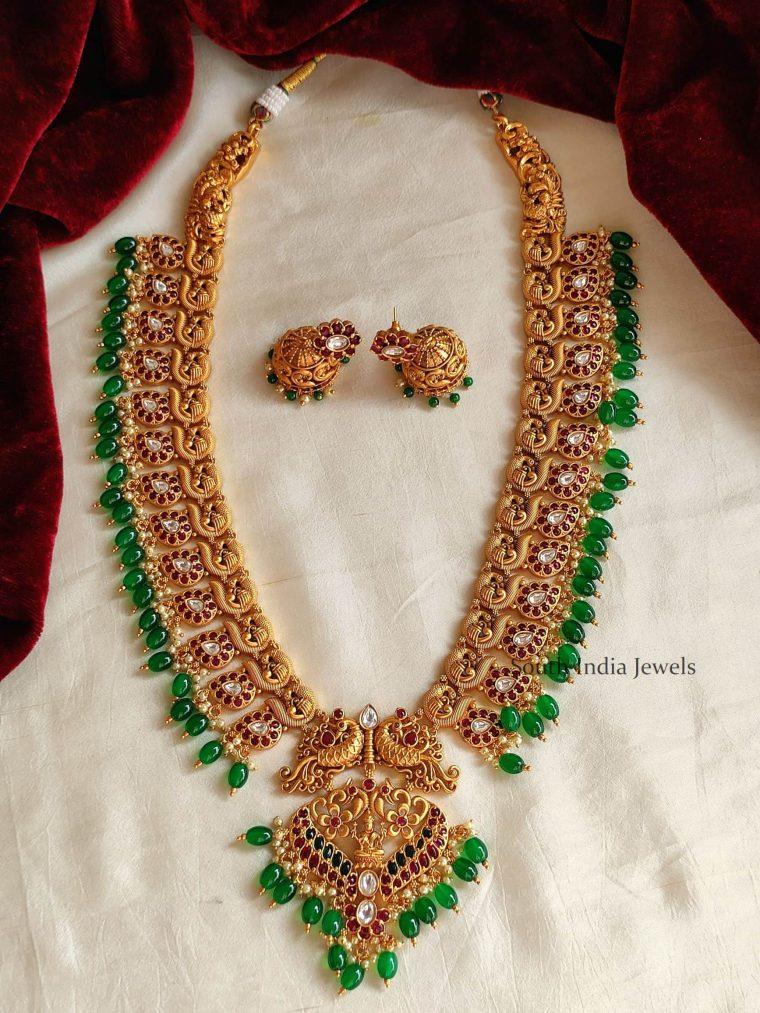 Unique Peacock Design Green Beads Haram