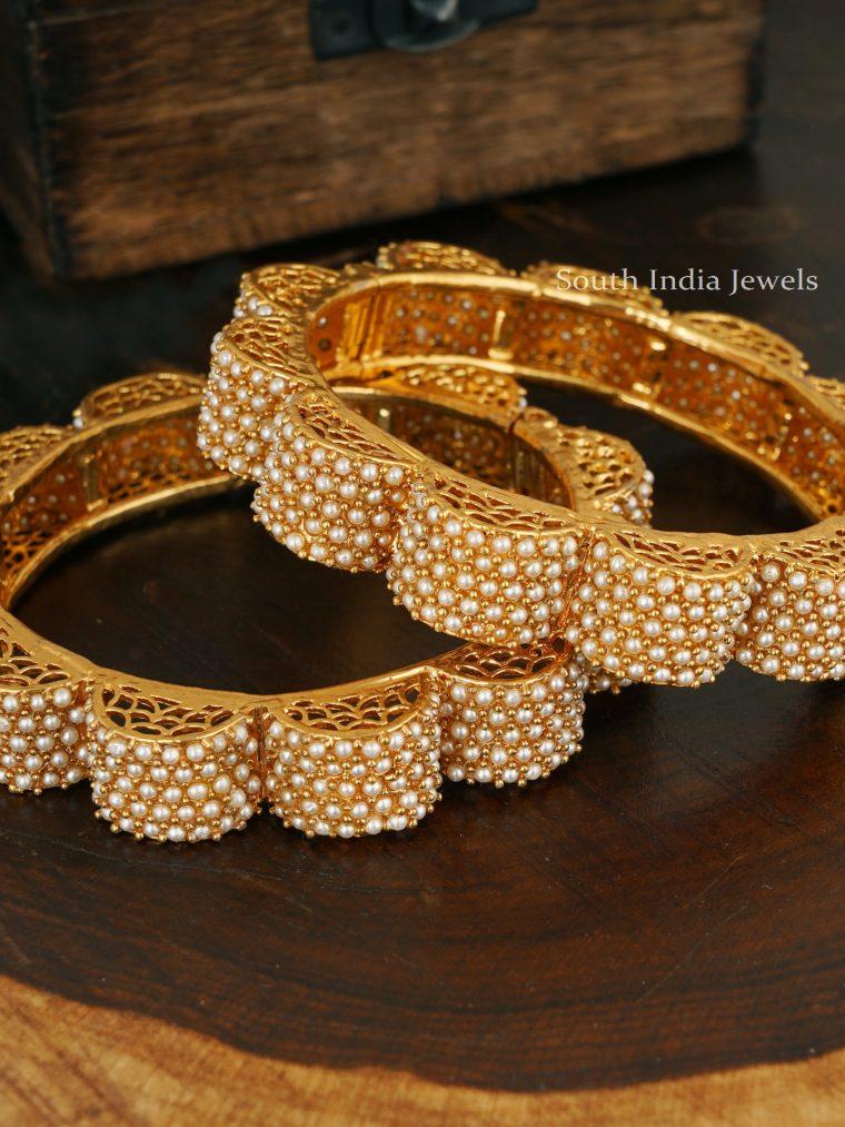 Unique Pearl Gajra Bangles