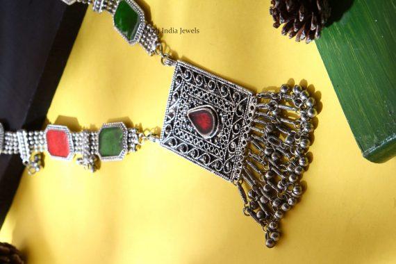 Afghani Tribal Coloured Silver Haram (2)