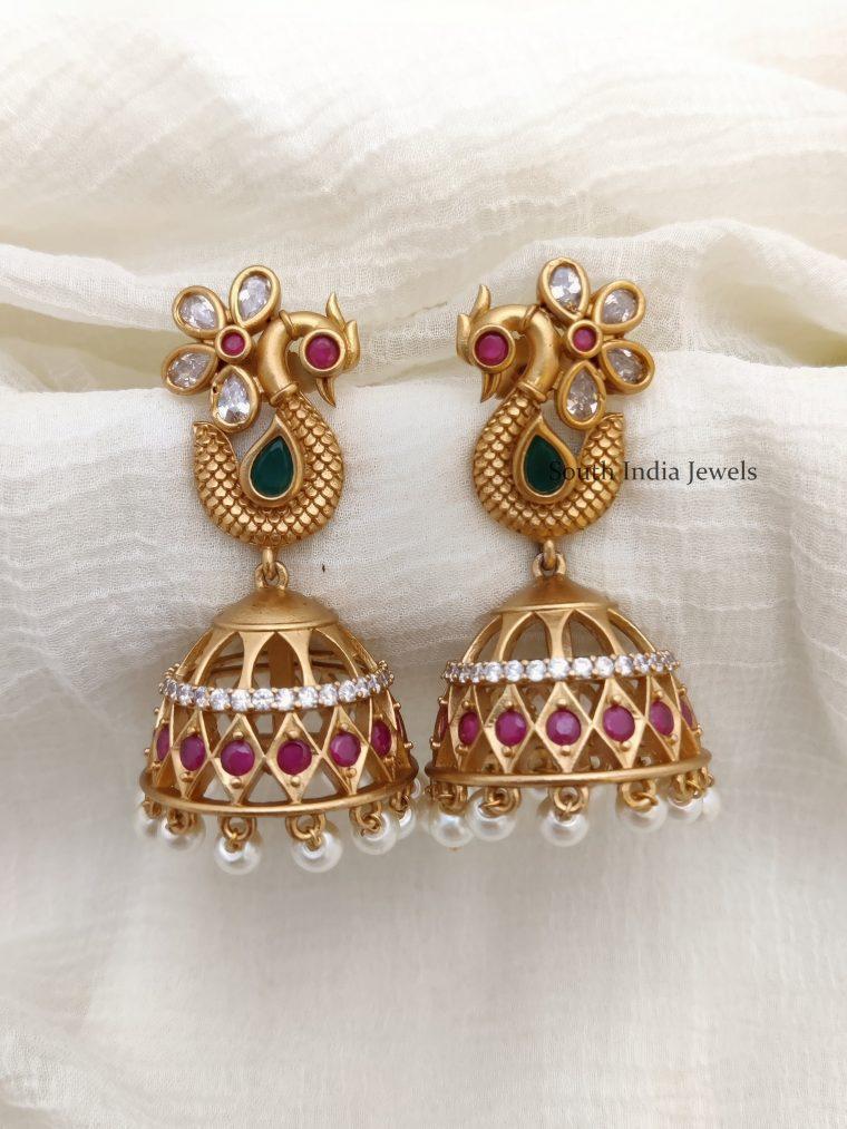 Beautiful AD Stone Jhumkas