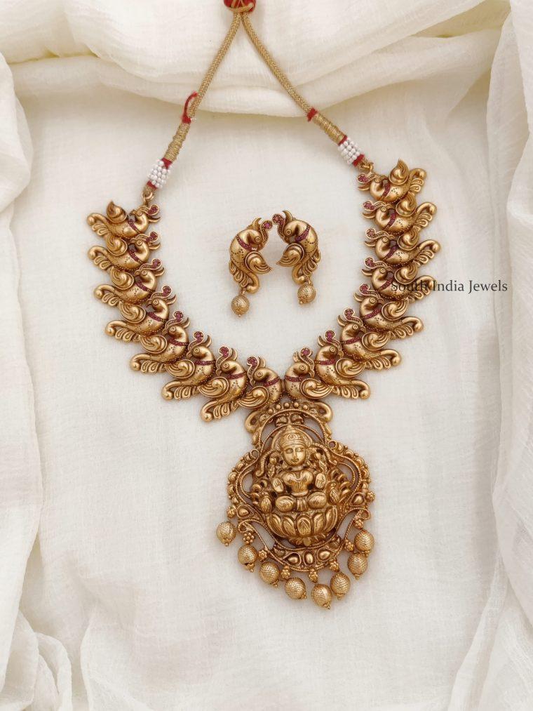 Beautiful Antique Peacock Design Necklace