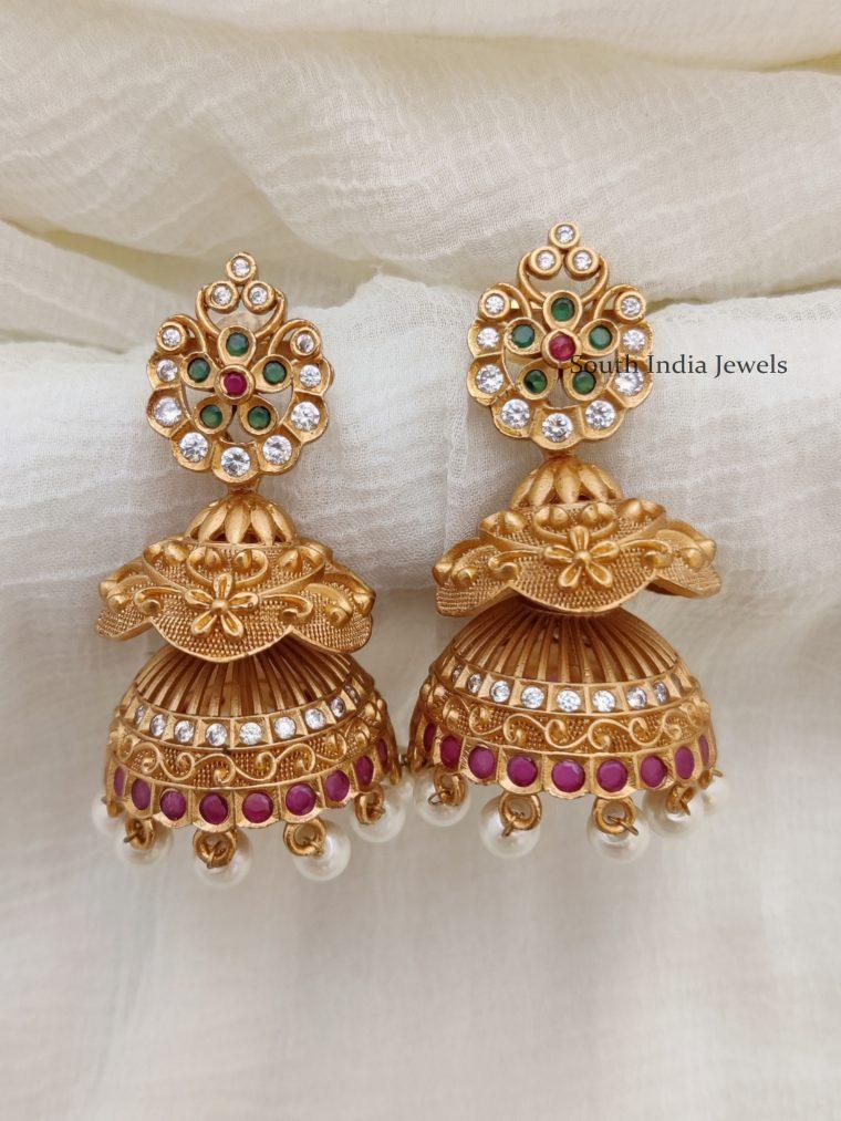Beautiful Double Layer Jhumkas