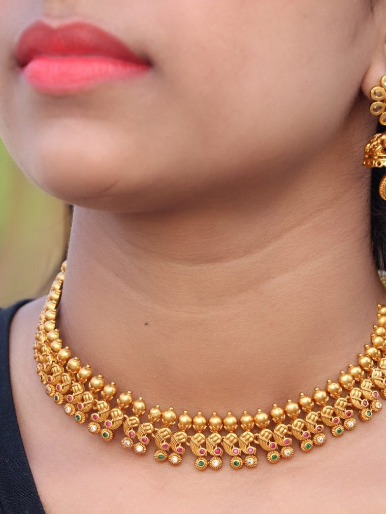 Beautiful Emerald & Pearl Necklace (4)