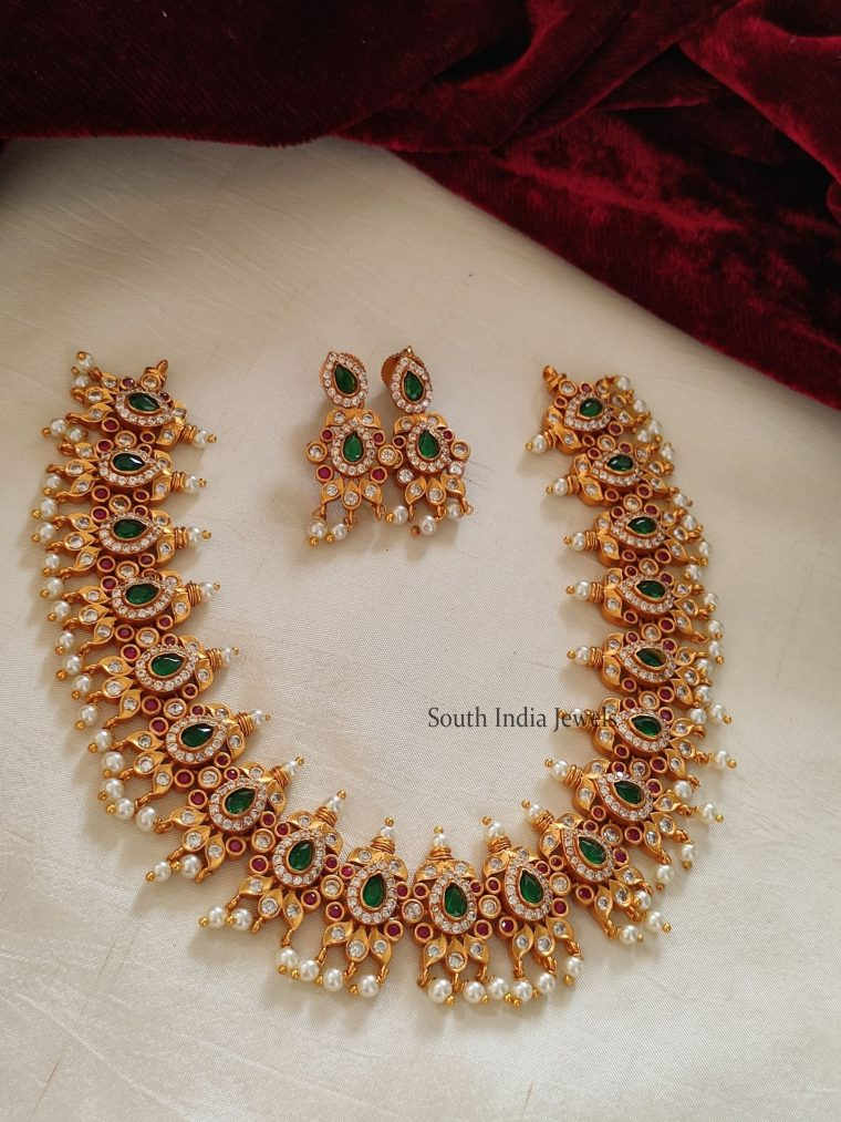 Beautiful Emerald & Pearl Necklace
