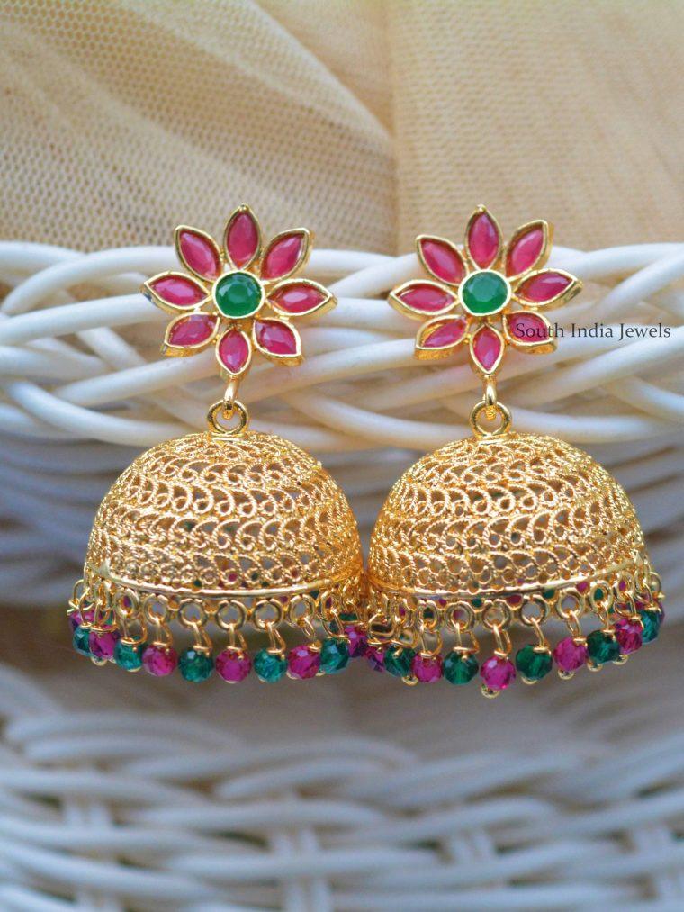 Beautiful Gold Polish Jhumkas