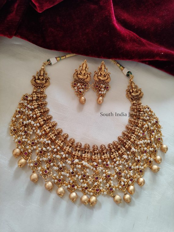 Beautiful Guttapusalu Lakshmi Necklace