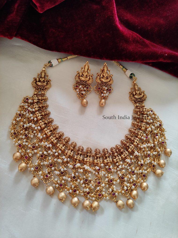 Beautiful Guttapusalu Lakshmi Necklace