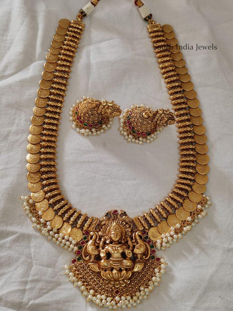Beautiful Lakshmi Coin Pearls Haram