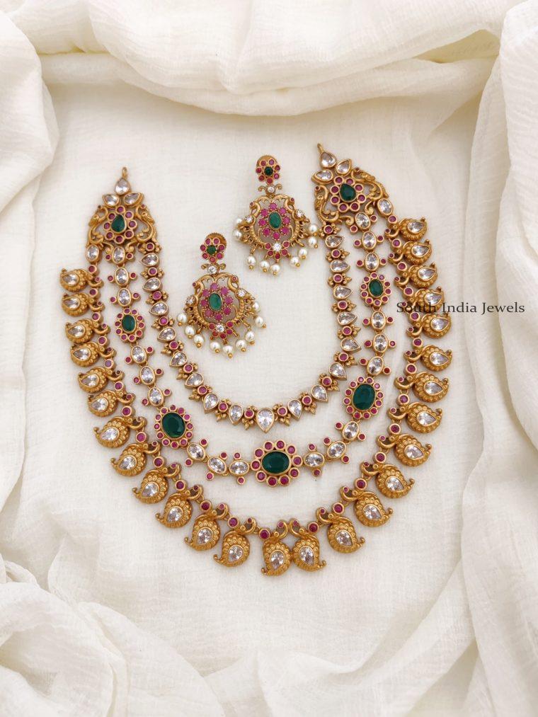 Beautiful Multi Stone AD Necklace