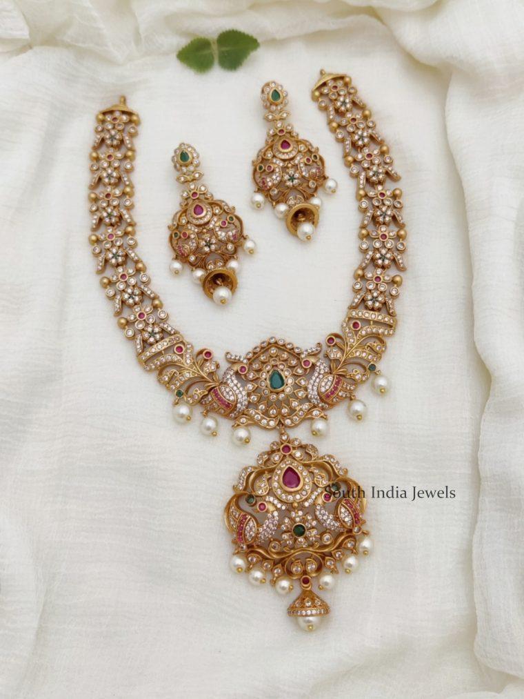 Beautiful Peacock Bridal Necklace (2)