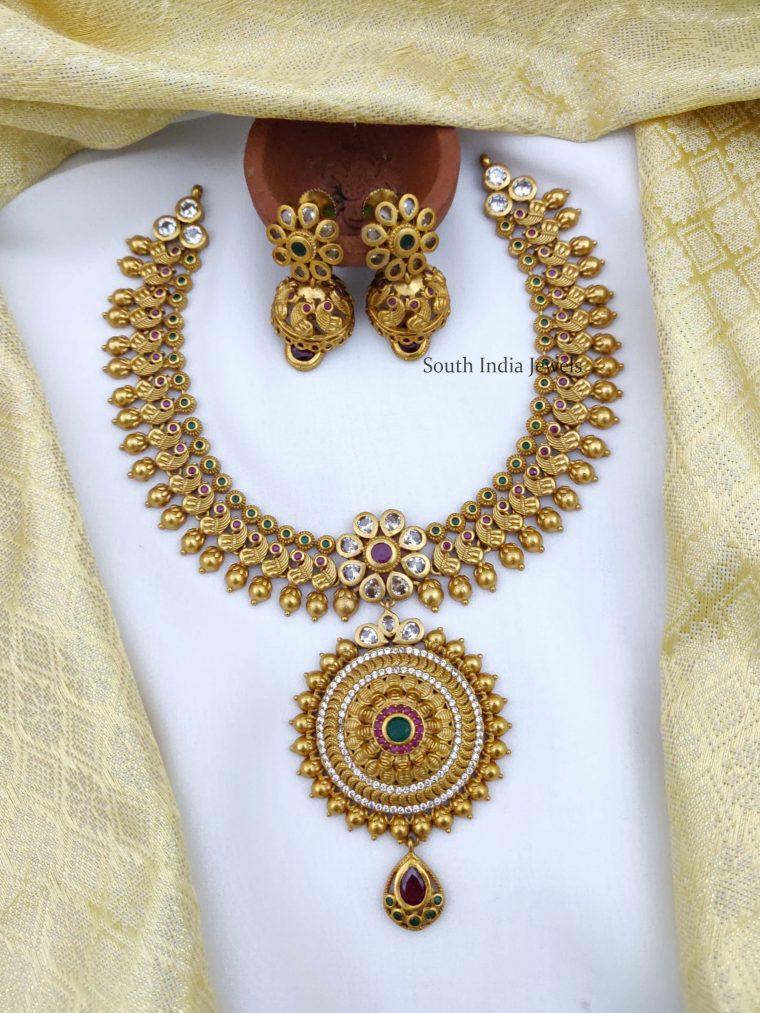 Beautiful Peacock Design Necklace