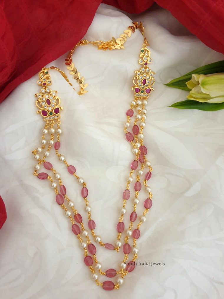Beautiful Pink Beads & Pearl Necklace
