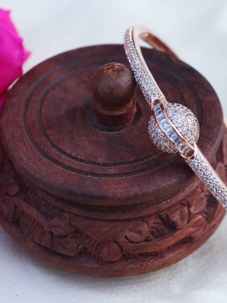 Beautiful Rose Gold AD Stone Bracelet