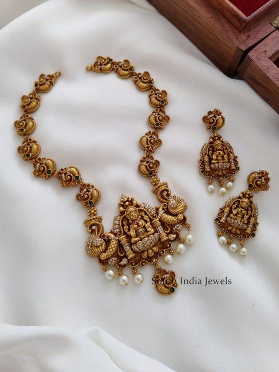 Beautiful lakshmi design Necklace - 01