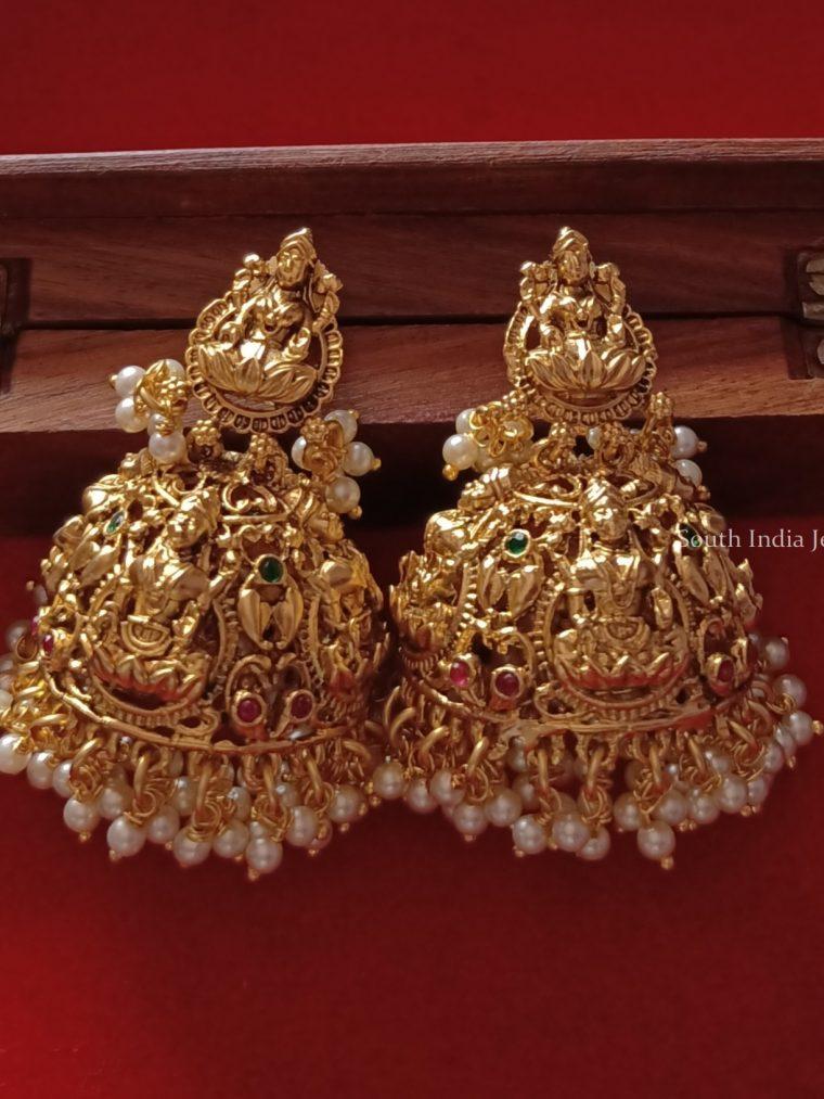 Bridal Lakshmi Jhumkas Set