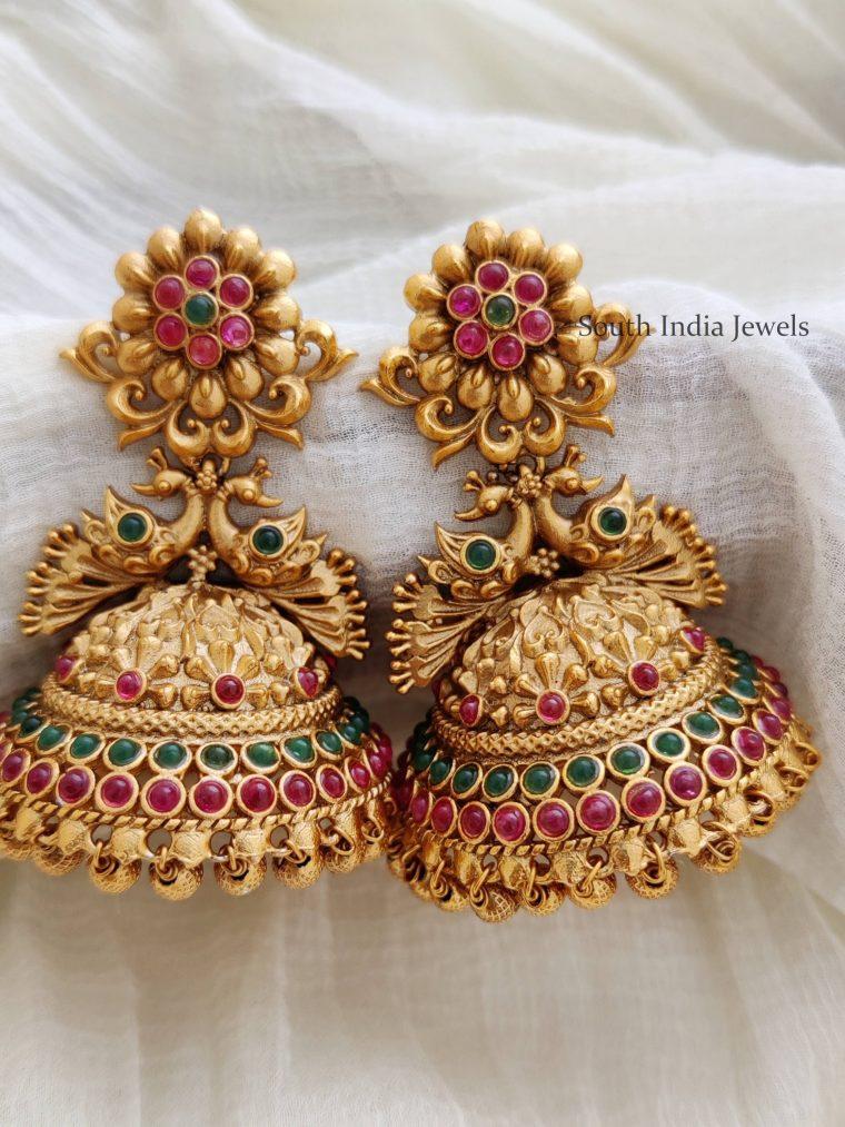 Classic Flower Design Jhumkas
