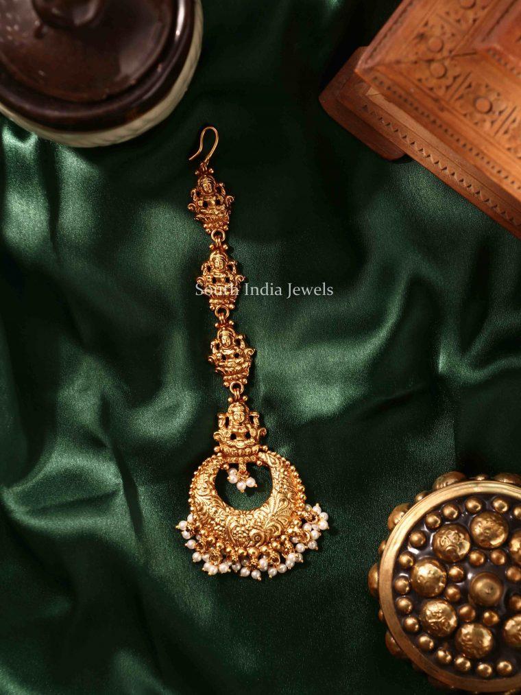 Classic Lakshmi Design Pearl Maang Tikka (3)