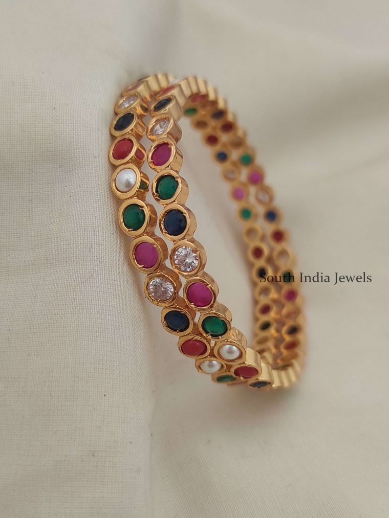 Classic Navarathna Stones Bangles
